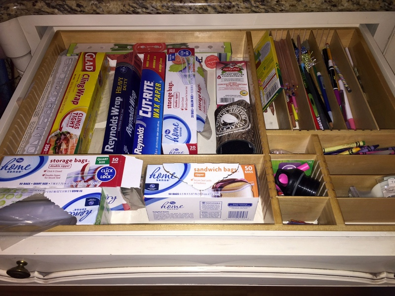 foil, boxes, and bags drawer organizer