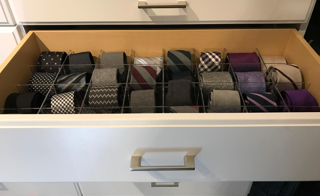 Cubby Grid for tie drawer